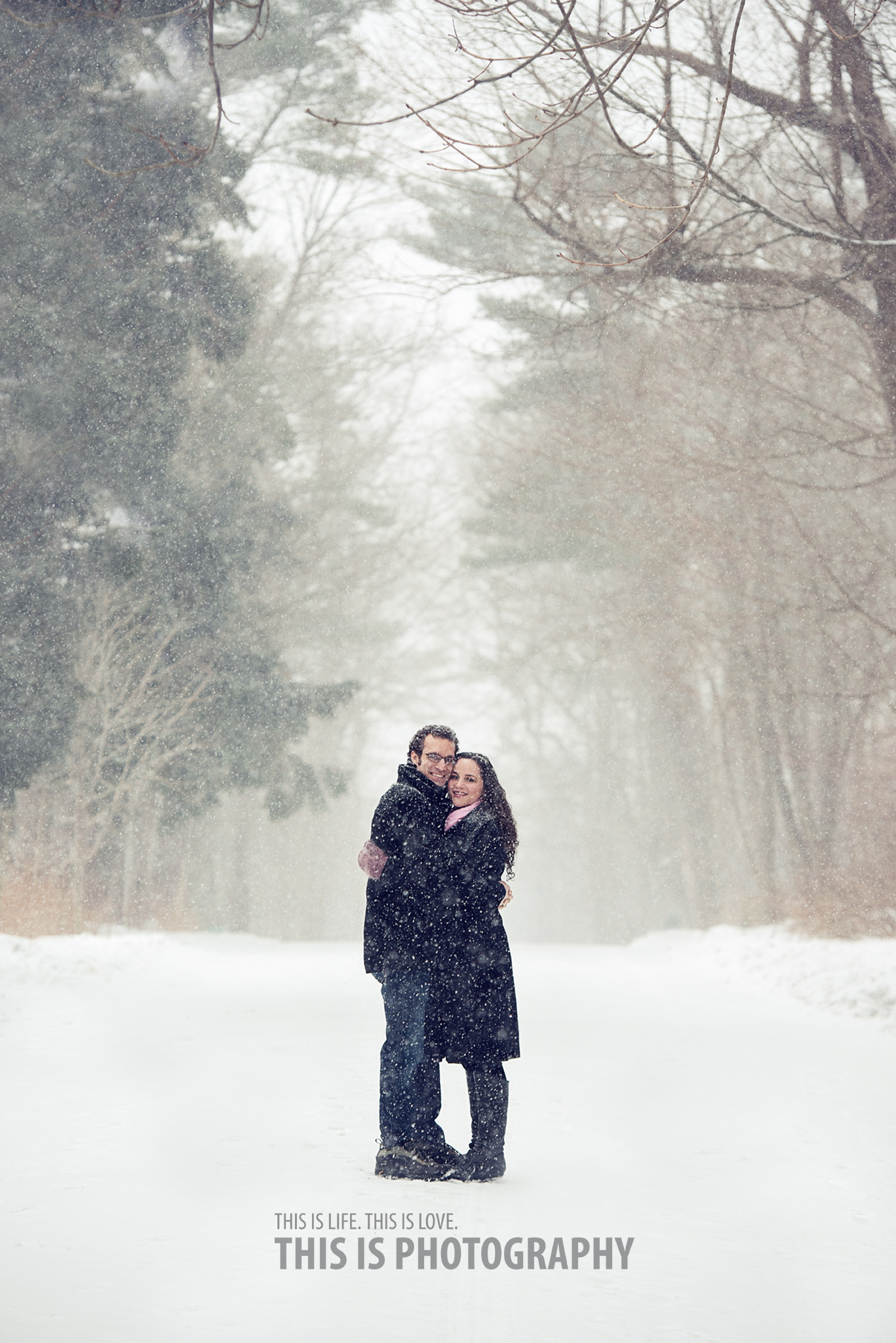 Snowy Winter Engagement Shoot Halifax